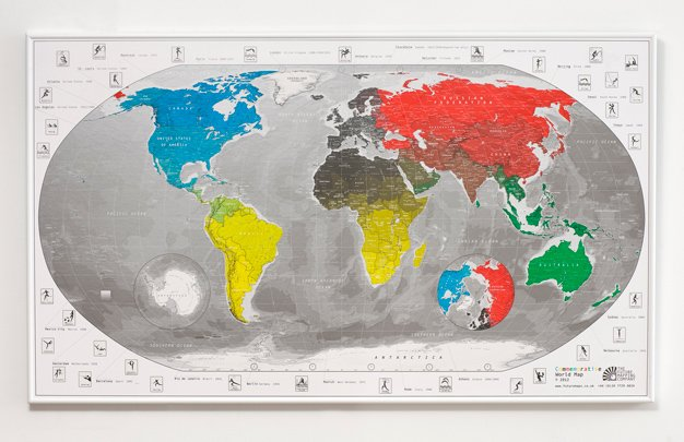 Game on scp life this world map highlights previous olympic host cities and even marks time zones smart use of the olympic ring colours too 25 gumiabroncs Gallery