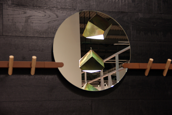 Crosscut hook and mirror by Faudet Harrison / Axial light by Bec Brittain