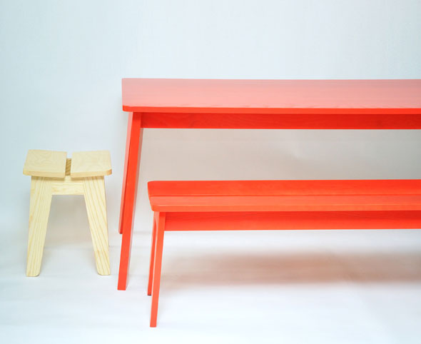 Welland-stool,-dining-table-&-bench-table-by-Ineke-Hans-for-SCP