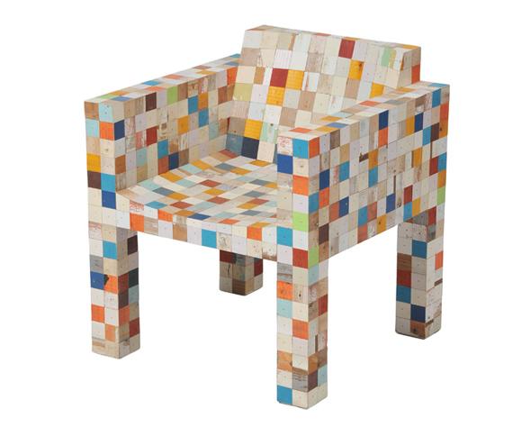 WASTE WASTE 40x40 chair by Piet Hein Eek