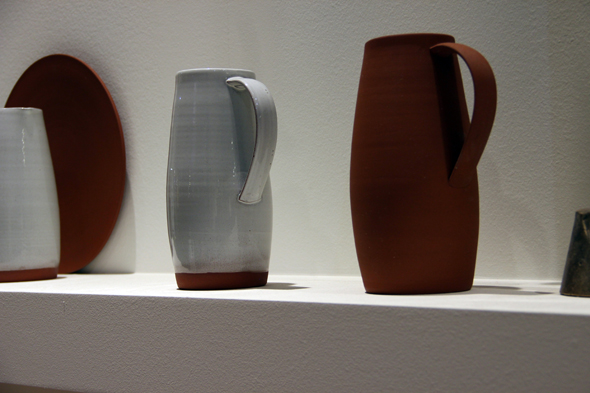 Terracotta platter, bowl and pitcher by Reiko Kaneko