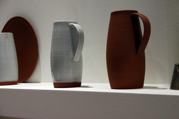 Terracotta platter, bowl and pitcher by Reiko Kaneko