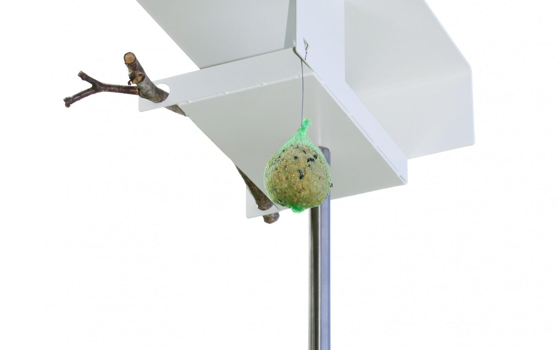White VH1 bird feeder (underneath) by Opossum Design | SCP Life