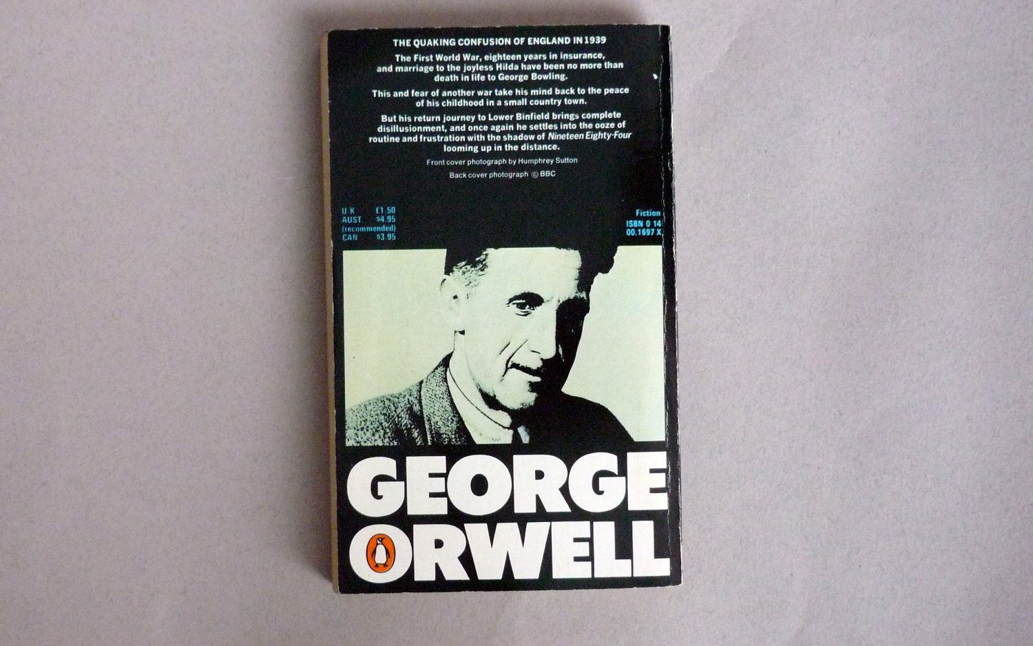 an overview of the novel coming up for air by george orwell Coming up for air - 1939 5  george orwell an overview - george orwell an overview george orwell born 1903 died 1950 eric arthur  george orwell s novel.