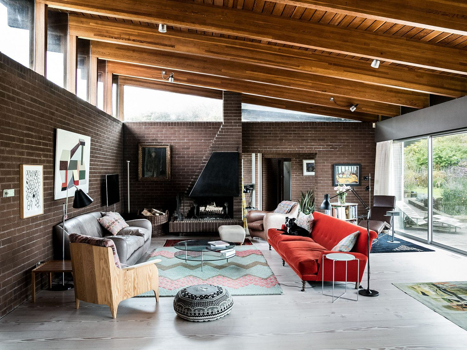 a masterclass in mid century style with the modern house